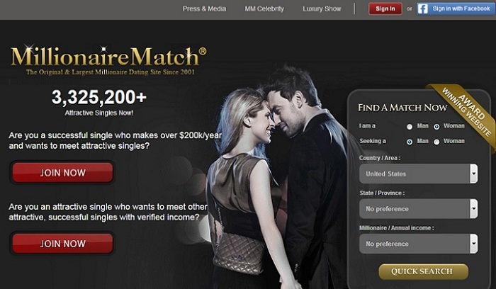 wealthy match dating site Compare all the features of this dating site and its or you are looking for a rich guy, luxy could be a conversation with somebody you match.